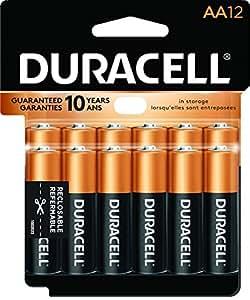 Duracell Coppertop AA Alkaline Battery - 12 Pack: Amazon