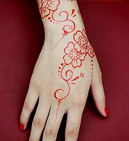 Amazon Com Gc India Henna Style Hand Leg Neck Arm Temporary Tattoo