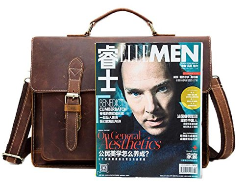 Darkcoffeecolor Messenger Men's Briefcases Bag Shoulder Business Portable paaPqAfx