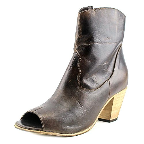 Dingo Koko Women US 8 Brown Peep Toe Western Boot