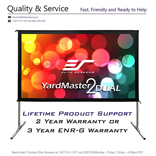 Elite DUAL, 135-INCH 16:9, Front/Rear Projection, 4K/8K Ultra Active 3D, Ready Indoor/Outdoor
