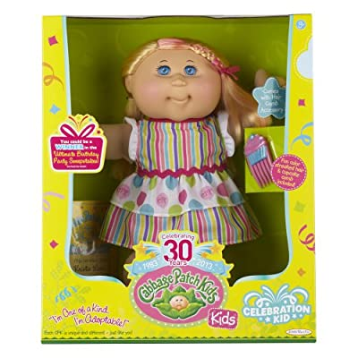 Cabbage Patch Kids Celebration Girl Doll, Blond Hair and Blue Eyes