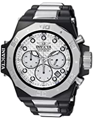 Invicta Mens Akula Quartz Stainless Steel Casual Watch, Color:Silver-Toned (Model: 23098)