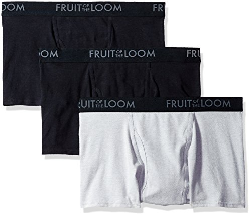 Fruit of the Loom Men's Breathable Short Leg Boxer Brief Multipack, Black/Gray, Small by Fruit of the Loom