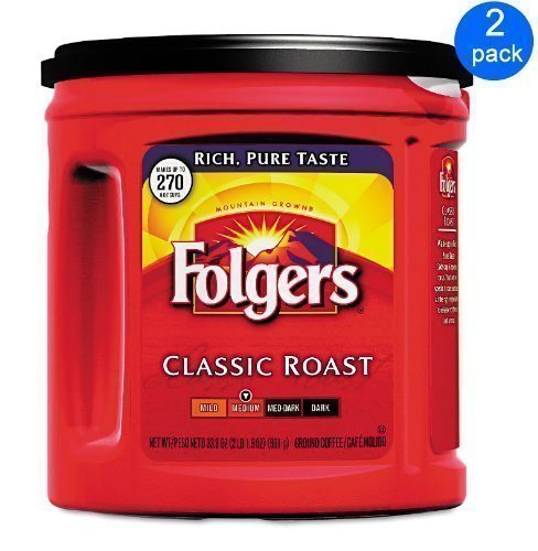 Folgers Coffee Classic Roast 2-pack; 33.9 Oz Each. by Folgers
