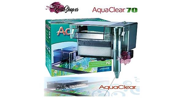 FILTRO DE MOCHILA PARA ACUARIO AQUACLEAR 70 FILTROS CASCADA DE ACUARIO PECERA: Amazon.es: Productos para mascotas