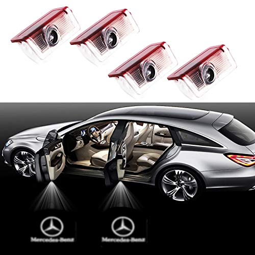 Eogifee Car LED Door Courtesy LED Laser Projector Welcome Lights Ghost Shadow Light for The Replacement of TMercedes-Benz E A B C ML Class w212 w166 w176 Series(4 Pack)