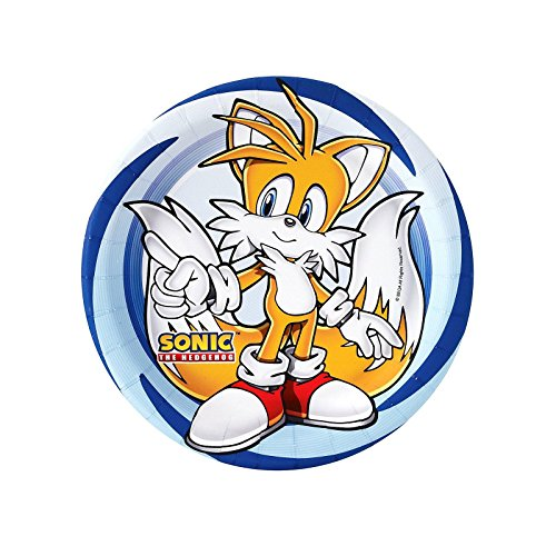 Sonic And Tails Costumes (Sonic the Hedgehog Party Supplies - Dessert Plates (8))