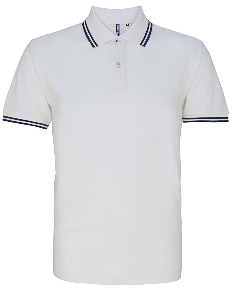 1960s Style Men's Clothing, 70s Men's Fashion Mens Classic Fit Tipped Polo $27.59 AT vintagedancer.com