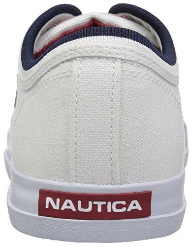 Nautica Mens Scafo 2 Sneaker Tela Bianca