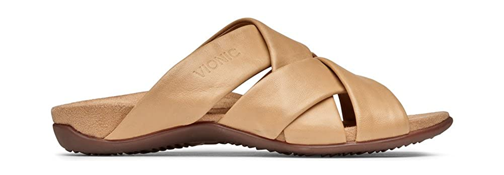 019d0ee5257d Amazon.com  Vionic Women s Rest Juno Slide Sandal - Walking Sandals with  Concealed Orthotic Arch Support  Shoes