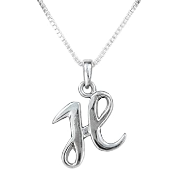Amazon.com: Sterling Silver Initial Charm Necklace, Letter H, 16