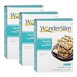 WonderSlim High Protein Wafer Bar - Vanilla (3 Boxes - Save 5%) - Trans Fat Free, Aspartame Free, Cholesterol Free