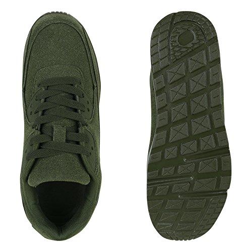 Stiefelparadies - zapatilla baja Mujer verde oscuro