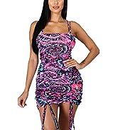 shengfan Women's Sexy Sundresses Basic Backless Bodycon Club Party Mini Dress