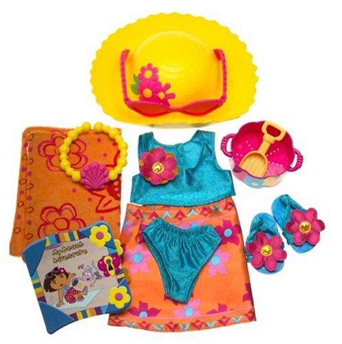 Dora The Explorer Beach Dress Up Fashion Pack Adventure with Travel Journal -