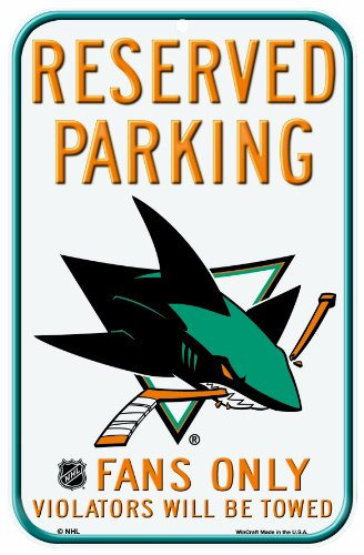 - NHL San Jose Sharks 11-by-17 Inch Locker Room Sign