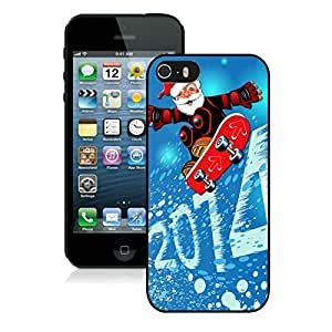 Personalized Customized 2014 Iphone 5S Protective Case Merry Christmas iPhone 5 5S TPU Case 1 Black