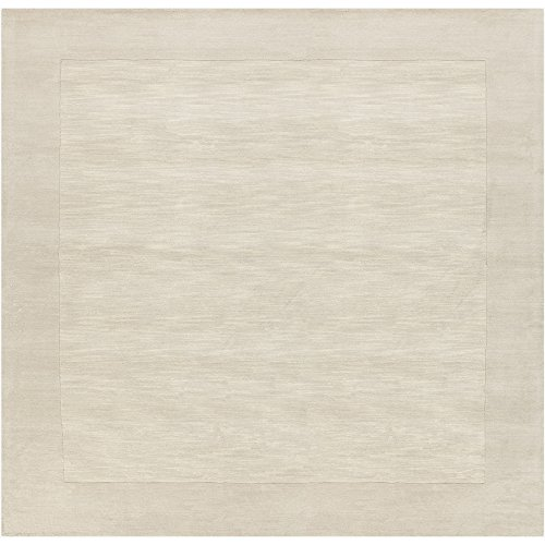Surya Mystique M-348 Hand Loomed Wool Square Solids and Borders Area Rug, 6-Feet