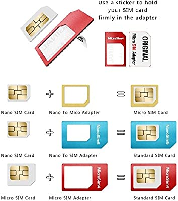 Generic 5 in 1 Universal Mini SIM Card Adapter Storage Case Kits for Nano Micro SIM Card Memory Card Holder Reader Case Cover Connector