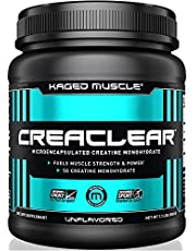 Kaged Muscle, CreaClear - Microencapsulated Creatine Monohydrate Powder, Improved Solubility - Mixes Clear, 500g, Unflavored