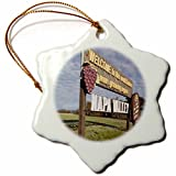 3dRose orn_88751_1 California, Napa Valley, Welcome sign US05 WBI1742 Walter Bibikow Snowflake Porcelain Ornament, 3-Inch