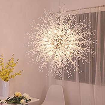 GDNS 24 Pcs Lights Chandeliers Firework LED Light Stainless Steel ...