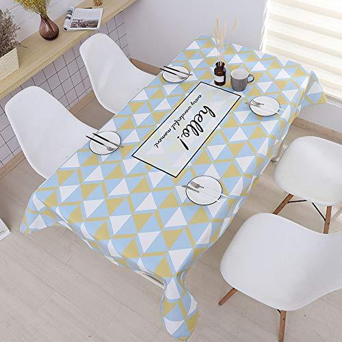 CZHJG Nordic Minimalista Ins Mantel Algodon Y Lino Impermeable Desechable Moderna Geometrica Mesa De Cafe Pano Rectangular Mesa Redonda Mesa De Comedor Tela Color Entusiasmo 140X140