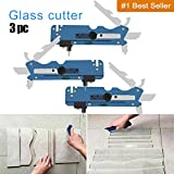 Professional Multifunction Glass Cutter Six Wheel Metal Cutting Tool with Measuring Ruler