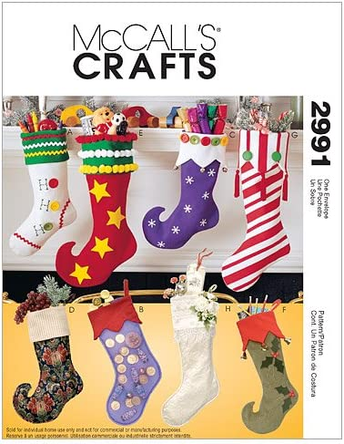 Amazon Com Mccall S Patterns M2991 Christmas Stockings One Size Only Arts Crafts Sewing