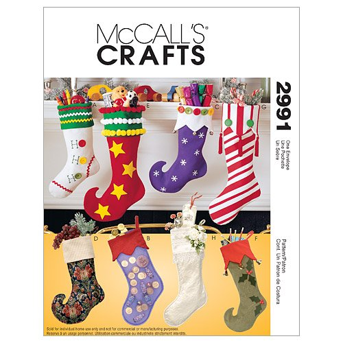 McCalls Patterns M2991 Christmas Stockings product image