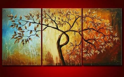 3 piece canvas art easy amazoncom piece canvas art modern 100 hand painted oil painting on wall deco home decoration unstretch no frame red painting