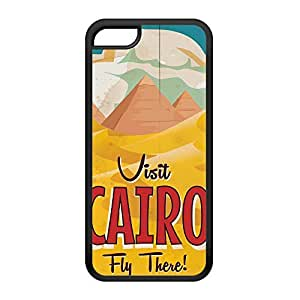 Cairo Black Silicon Rubber Case for iPhone 5C by Nick Greenaway + FREE Crystal Clear Screen Protector
