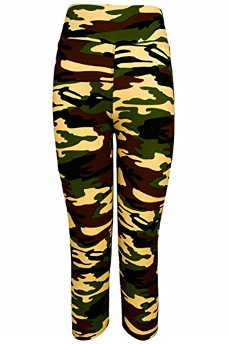 Women's Printed Active Fitness Sports Workout Leggings Tights Yoga Capri Pants