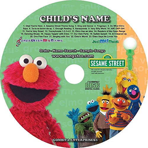 """Gombita Enterprises Children Name Personalized - CD & MP3 Digital - Sing Along with Elmo and Friends""""CUSTOMIZE NOW"""""""