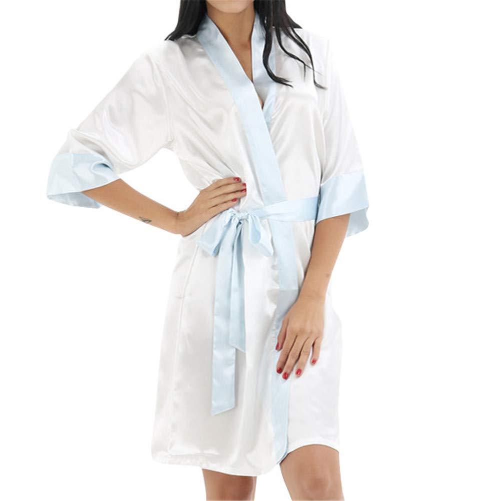 GODGETS Kimono Mujer Batas Camisón de la Boda para el camisón Nupcial de la Novia del Partido Nupcial Navidad: Amazon.es: Ropa y accesorios