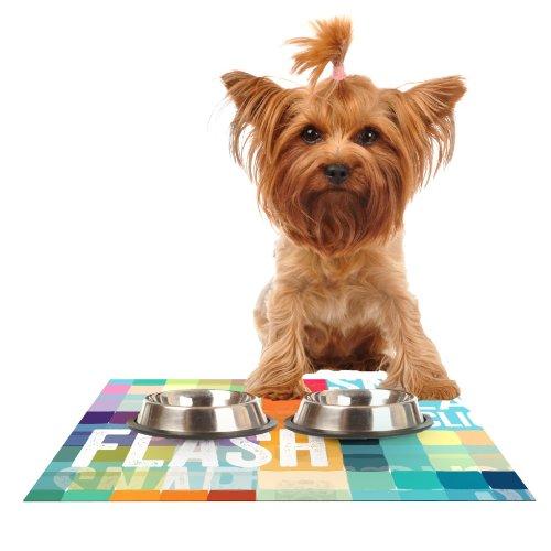 KESS InHouse KESS Original Flash  Feeding Mat for Pet Bowl, 24 by 15-Inch
