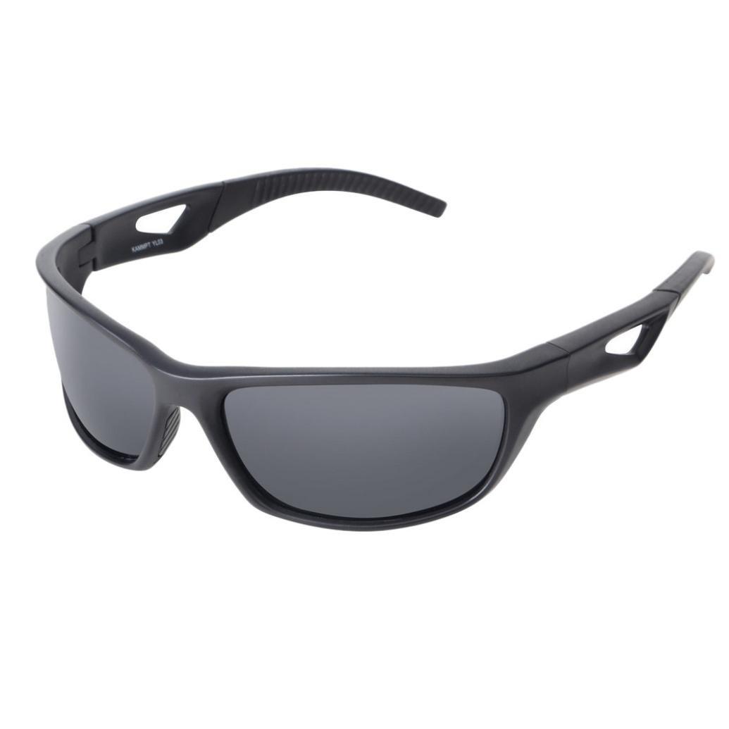 Gaddrt Lunettes de soleil polarisées, y compris lunettes en tissu lunettes étui lunettes sac test Card (D)