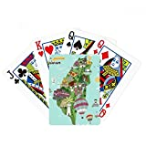 beatChong Taiwan Map Landscape China Travel Poker Playing Card Tabletop Board Game Gift