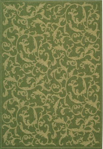 - Safavieh Courtyard Collection CY2653-1E06 Olive and Natural Indoor/ Outdoor Area Rug (5'3