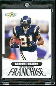 2007 Score Franchise #F 1 LaDanian Tomlinson San Diego Chargers Football Card Mint Condition Shipped in Protective Screwdown Display Case