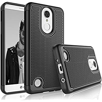 Tekcoo LG Phoenix 3 Case, Tekcoo LG Fortune/LG LV1/Risio 2/K4 2017 Sturdy Case, [Tmajor] Shock Absorbing [Black] Rubber Silicone Plastic Scratch Resistant ...