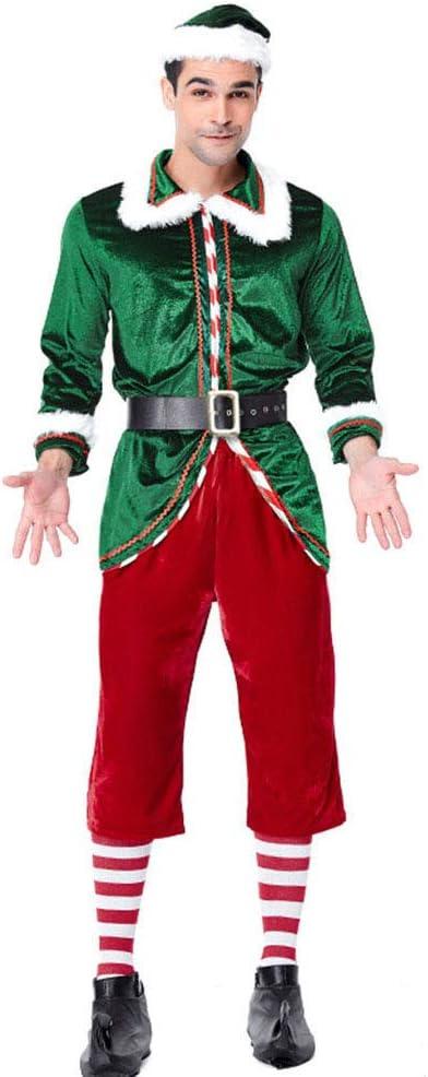 Huhuswwbin – Disfraz de elfo de Navidad, para hombres, mujeres ...