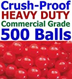 My Balls Pack of 500 Jumbo 3'' Red Color Commercial Grade Ball Pit Balls - Air-filled Crush-Proof in 5 Colors Phthalate Free BPA Free PVC Free