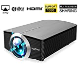 Smartphone Projector Vamvo Mini Portable Video Projector 1080P Support 1800 lumens 130