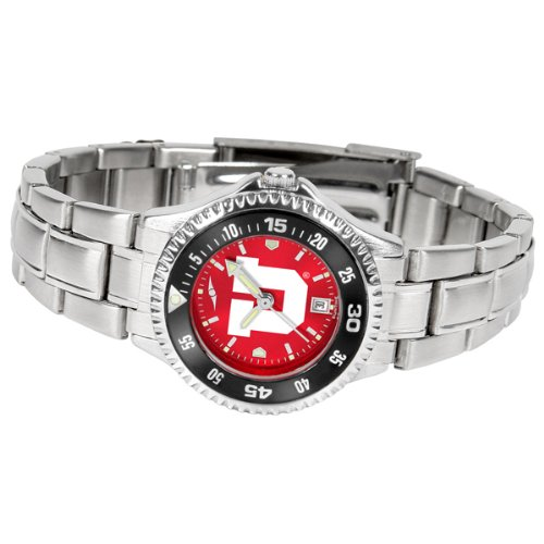Utah Utes Competitor Steel Watch (Utah Utes Competitor Steel AnoChrome Women's Watch - Color Bezel)