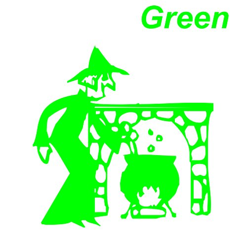 Green Seal cutting Witch Pot Fireplace The Witch from Sticker Fun Market