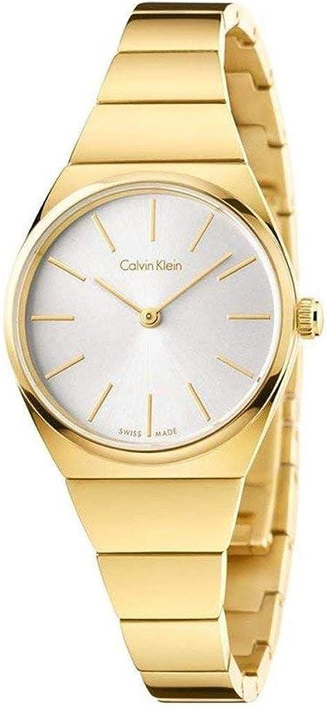 Calvin Klein Reloj Analógico para Mujer de Cuarzo con Correa en Acero Inoxidable K6C23546