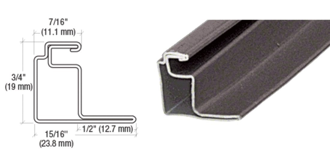 CRL Bronze 1/2'' Roll Formed Aluminum Standoff Screen Frame - 144'' by CR Laurence