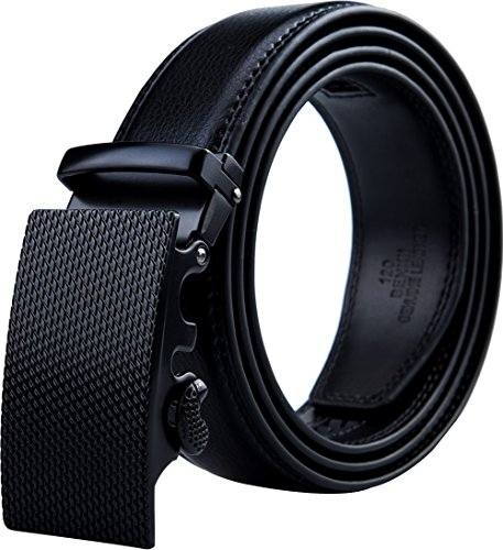Belts for Men - Men's Leather Ratchet Dress Belt with Automatic Adjustable Buckle
